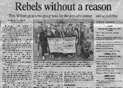 NewsJournal article featuring the Rebel Runners