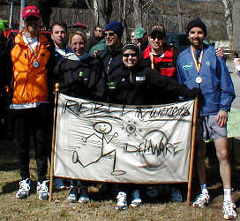 Rebel Runners team: Tony, Rich, Kelly, Mike, Dar, Greg, Ray