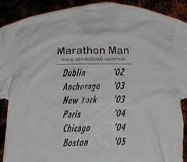 Marathon Man brag shirt