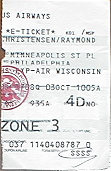 Plane ticket - with official security stamp