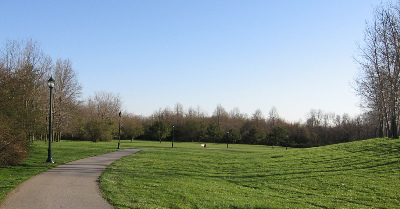 Delcastle Park running path